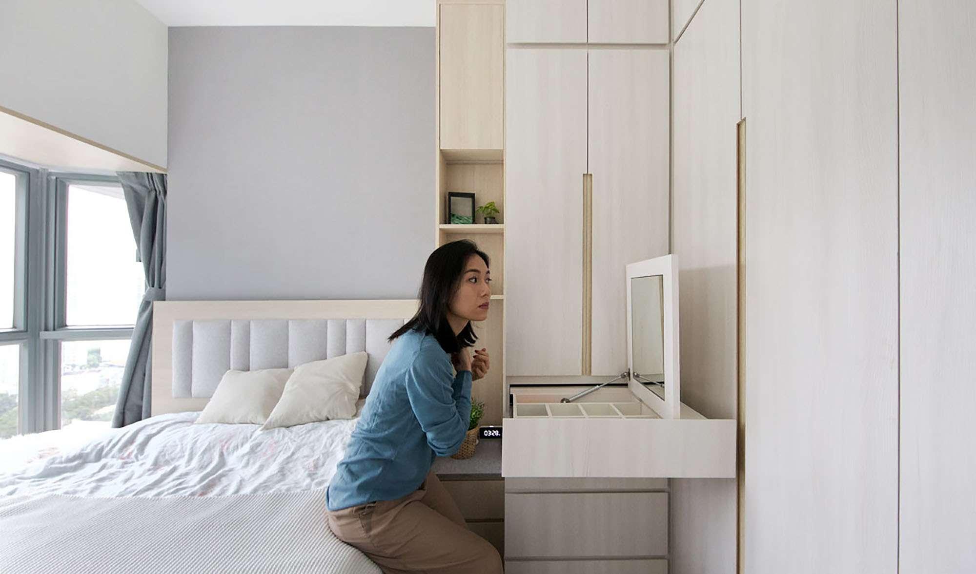 Smart Zendo micro-apartment by Sim-Plex Design Studio master bedroom