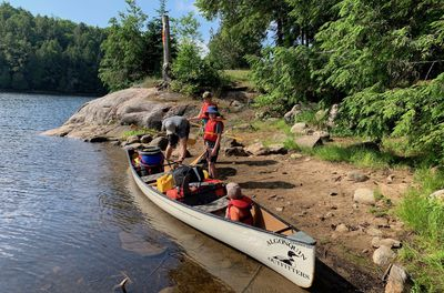 loading up the canoe