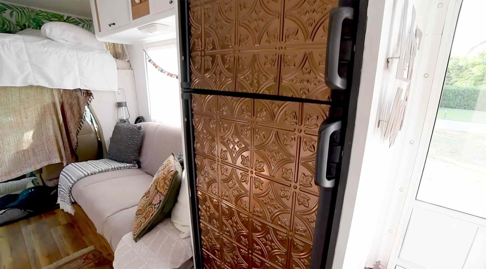 Mandy class c motorhome renovation refrigerator