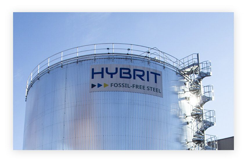 Fossil-free steel is steel produced using HYBRIT technology