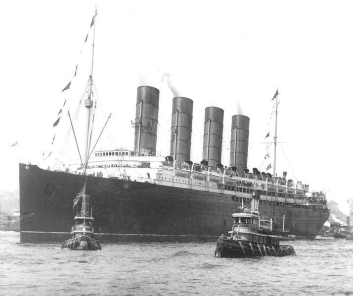 Lusitania, September 13, 1907