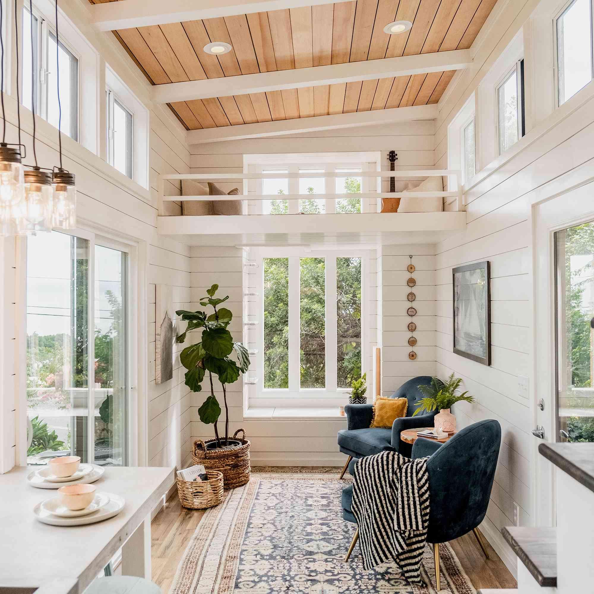 tiny house hawaii Taylor and Michaella McClendon interior main living space