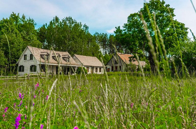 Many of the structures in Canadiana village are authentic 19th-century buildings that were saved from demolition and relocated to the site.