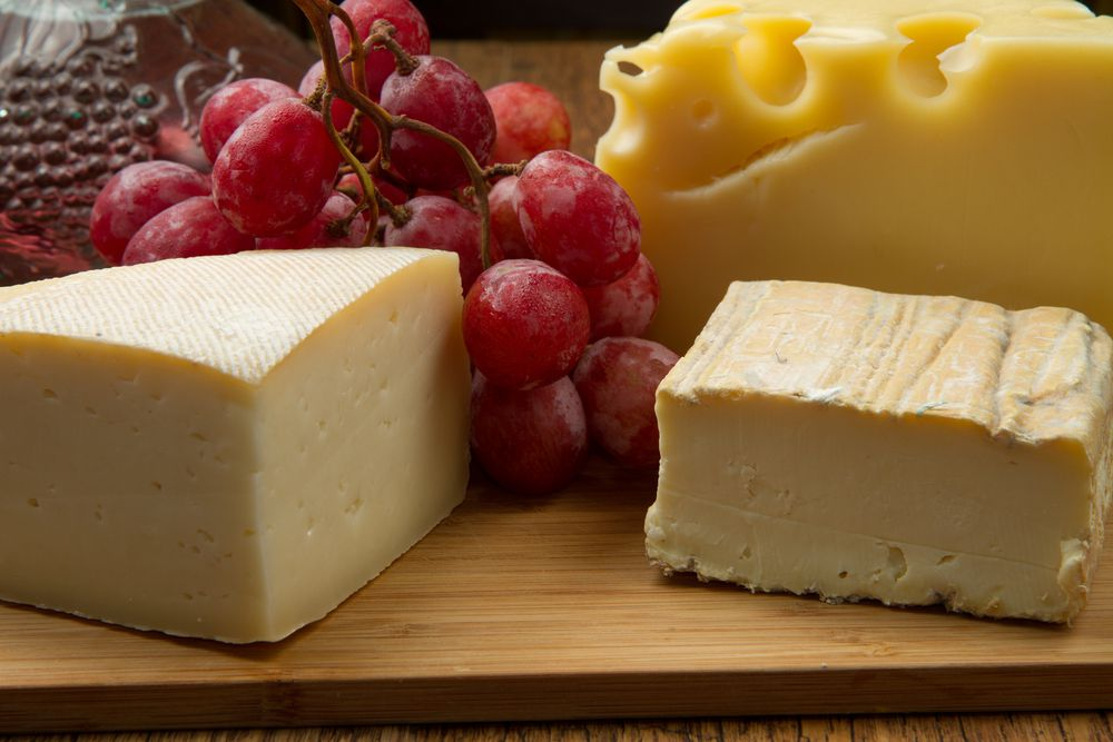 cheese, grapes