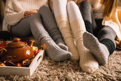 Wearing Cozy Socks