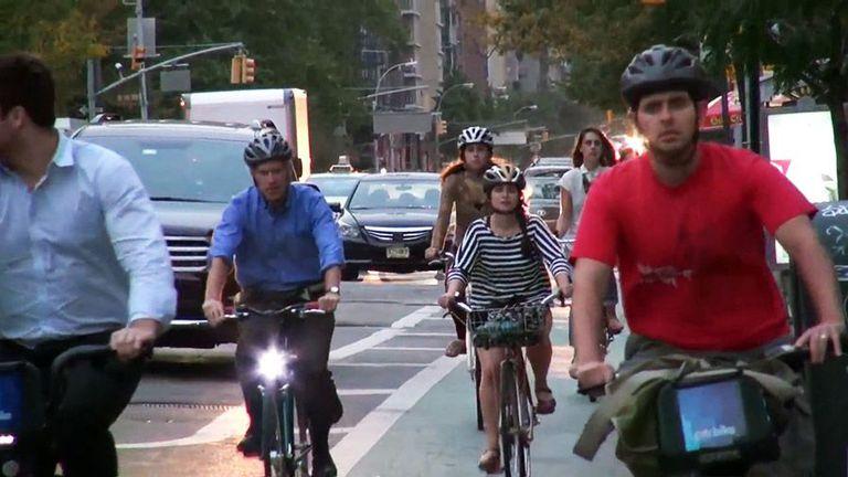 Bike Rush Hour por la ciudad de Nueva York (Video)