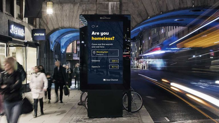 digital billboard on city street