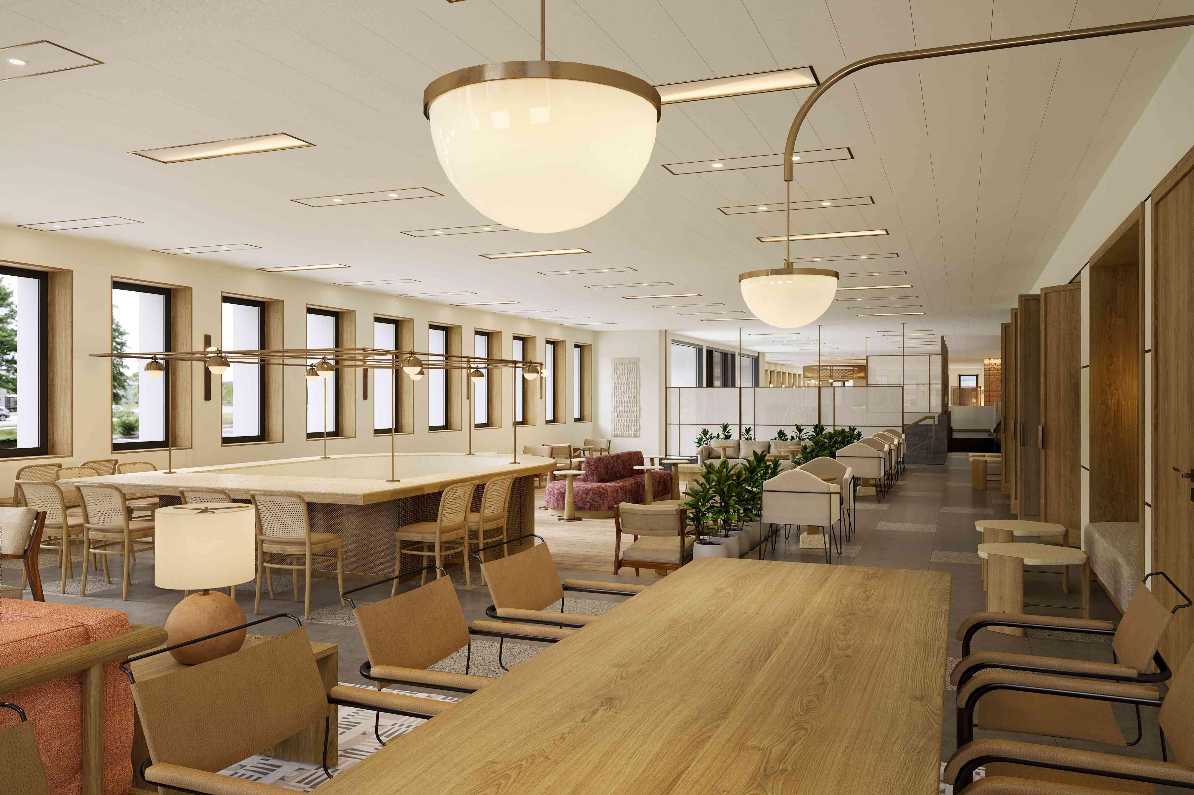 Interior public spaces