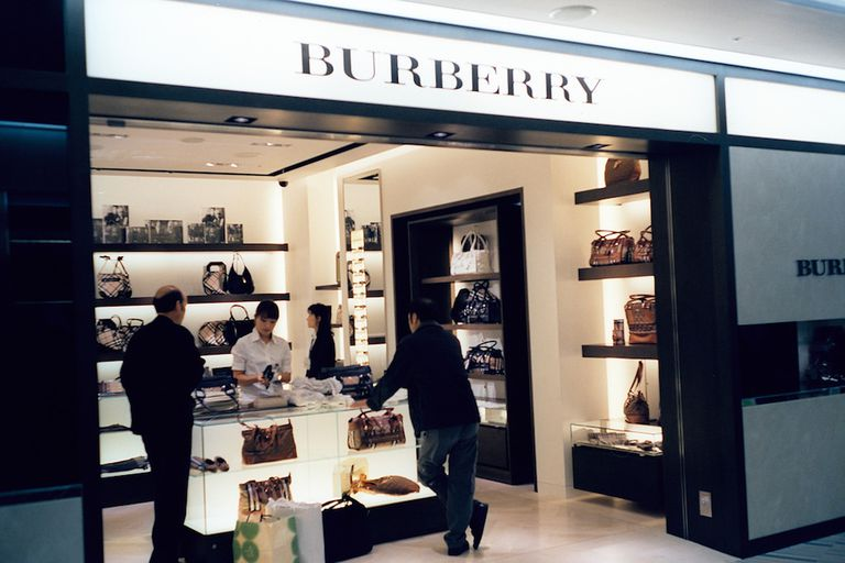 Burberry shop in a mall