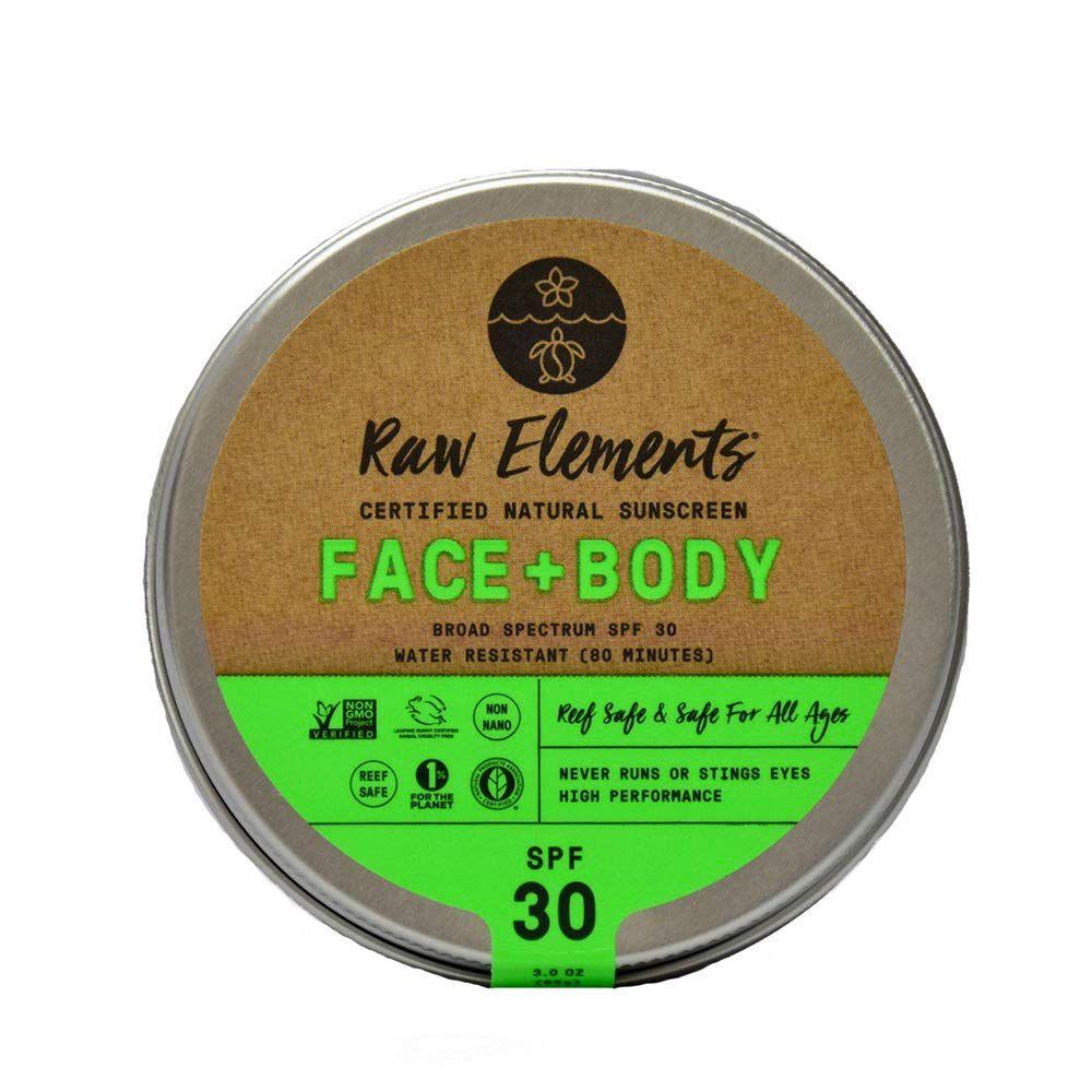 Raw Elements Face + Body Sunscreen SPF 30