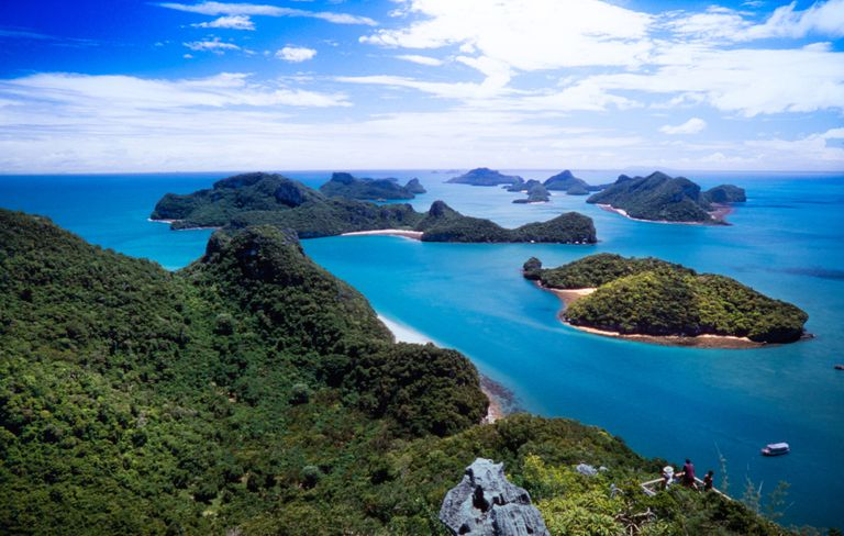 Mu Ko Ang Thong National Park includes 42 islands in the Gulf of Thailand