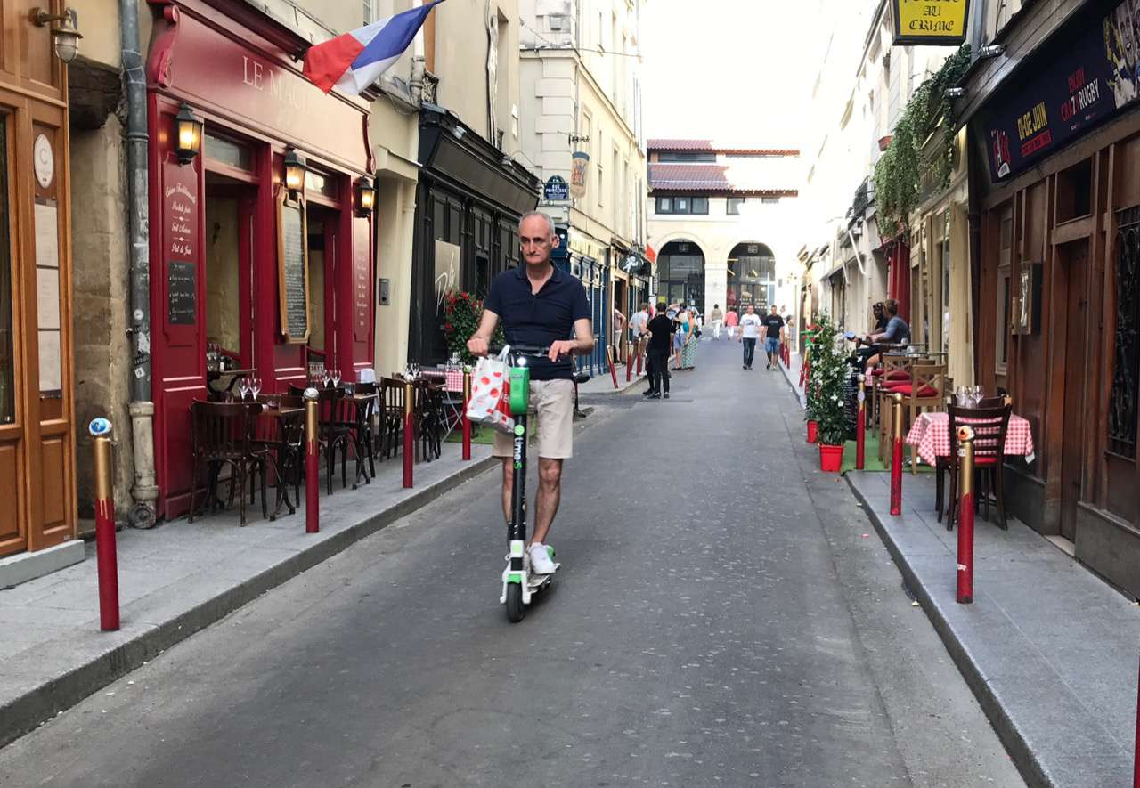 Parisian on a scooter