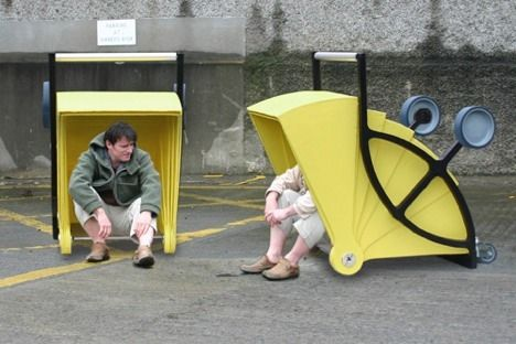 shelter recycling cart image
