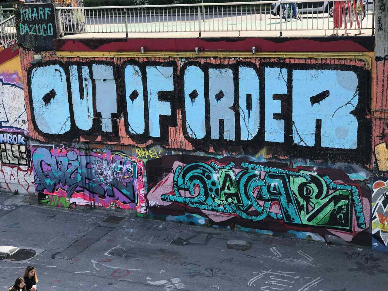 graffiti in Vienna with the words