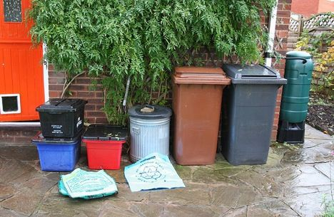 Recycle Compost Rainwater Garbage Trash Bins Cans Photo
