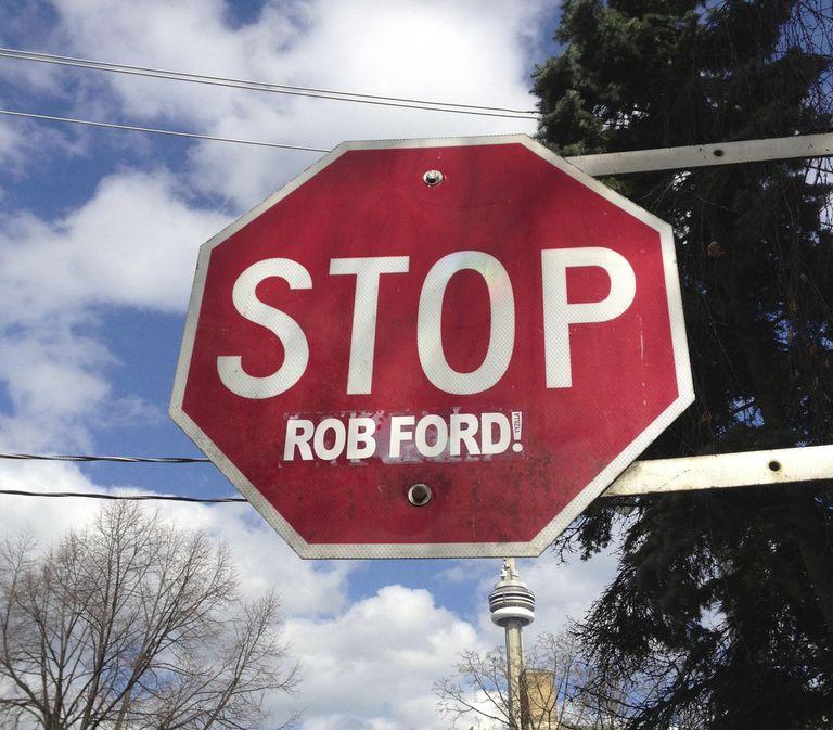 toronto stop sign