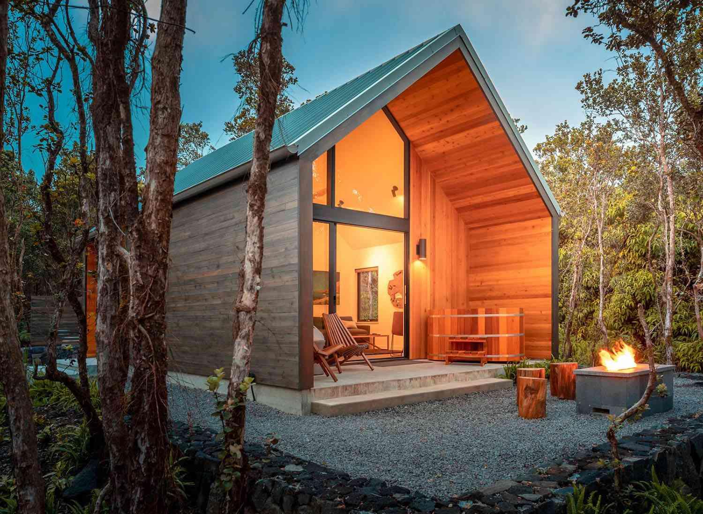 kuono cabin hawaii night
