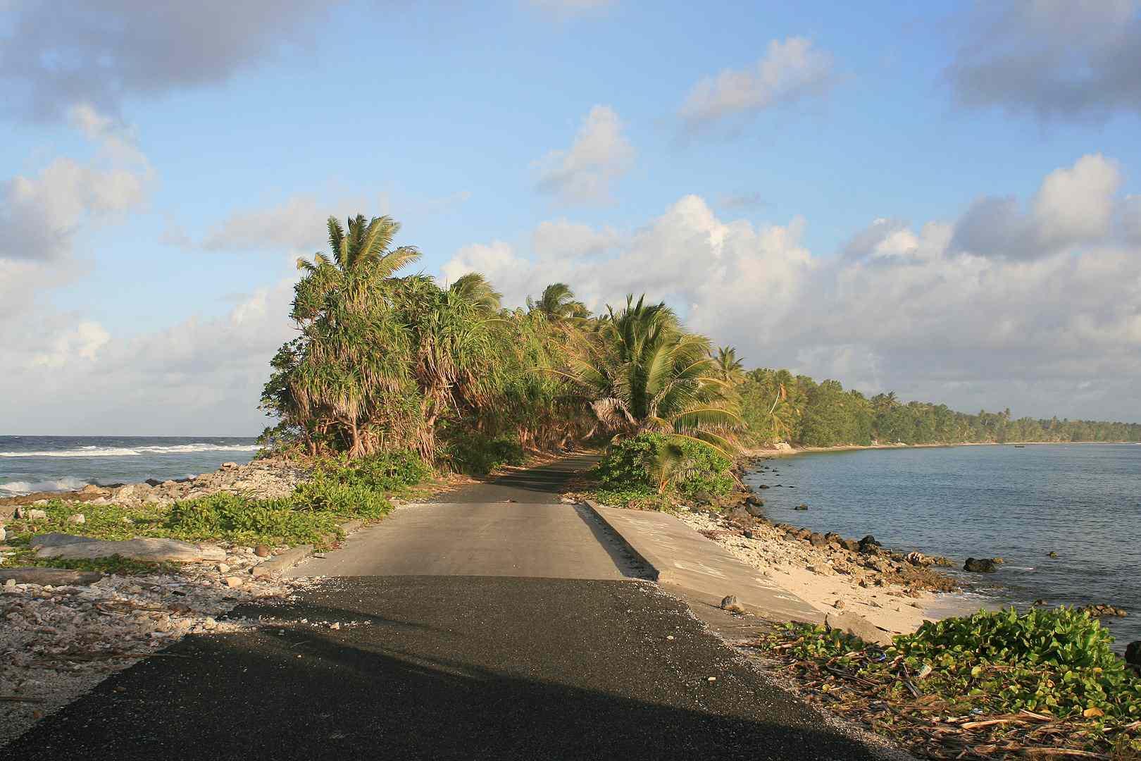 Tuvalu in the Pacific Ocean