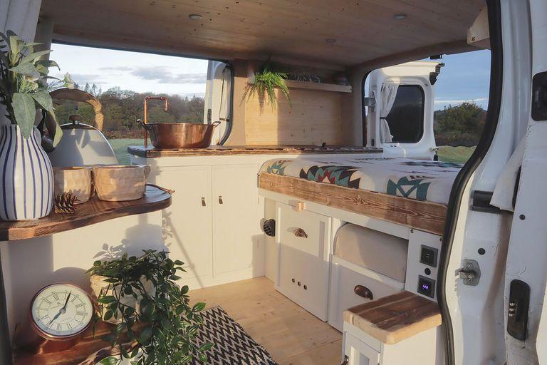 Vambo van conversion by Lee and Sarah Vanlife interior