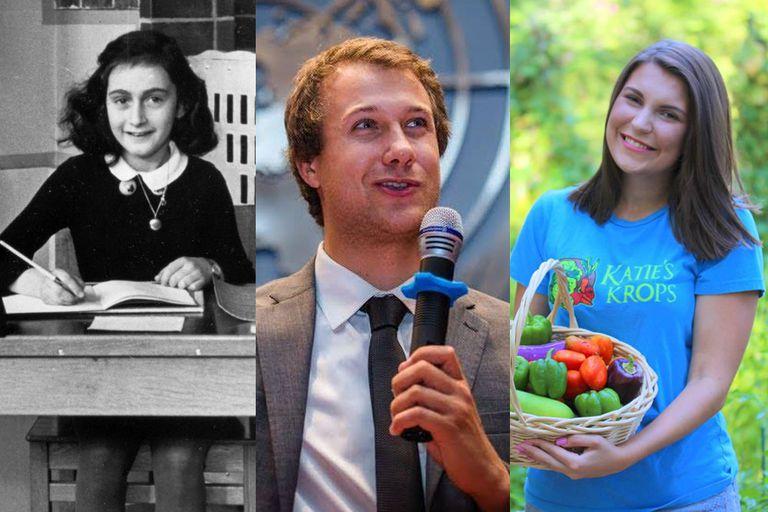 Anne Frank, Ryan Hreljac, and Katie Stagliano