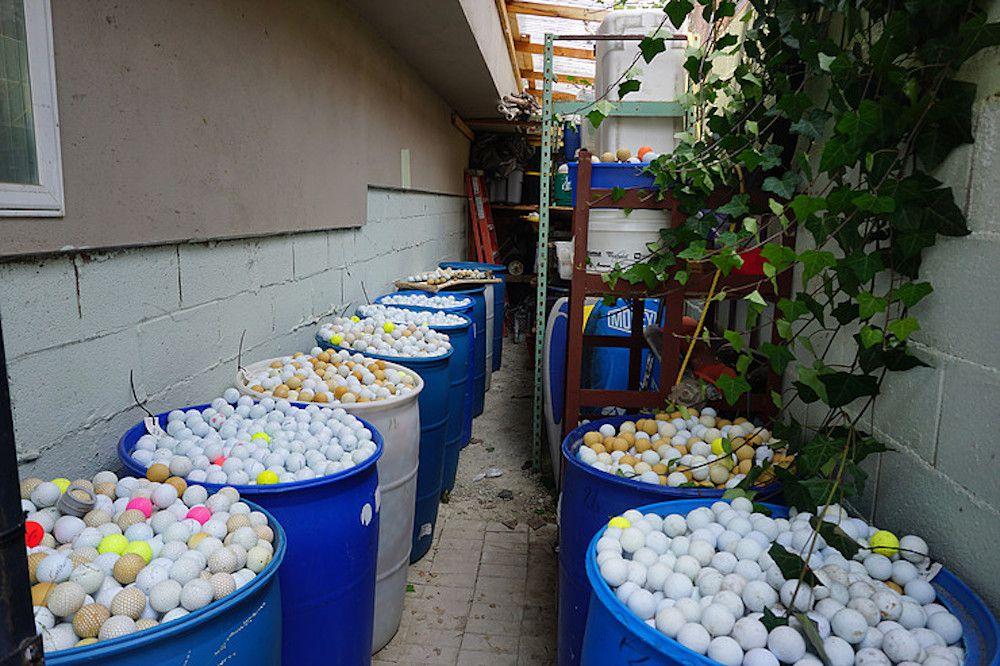 Alex Weber's golf balls