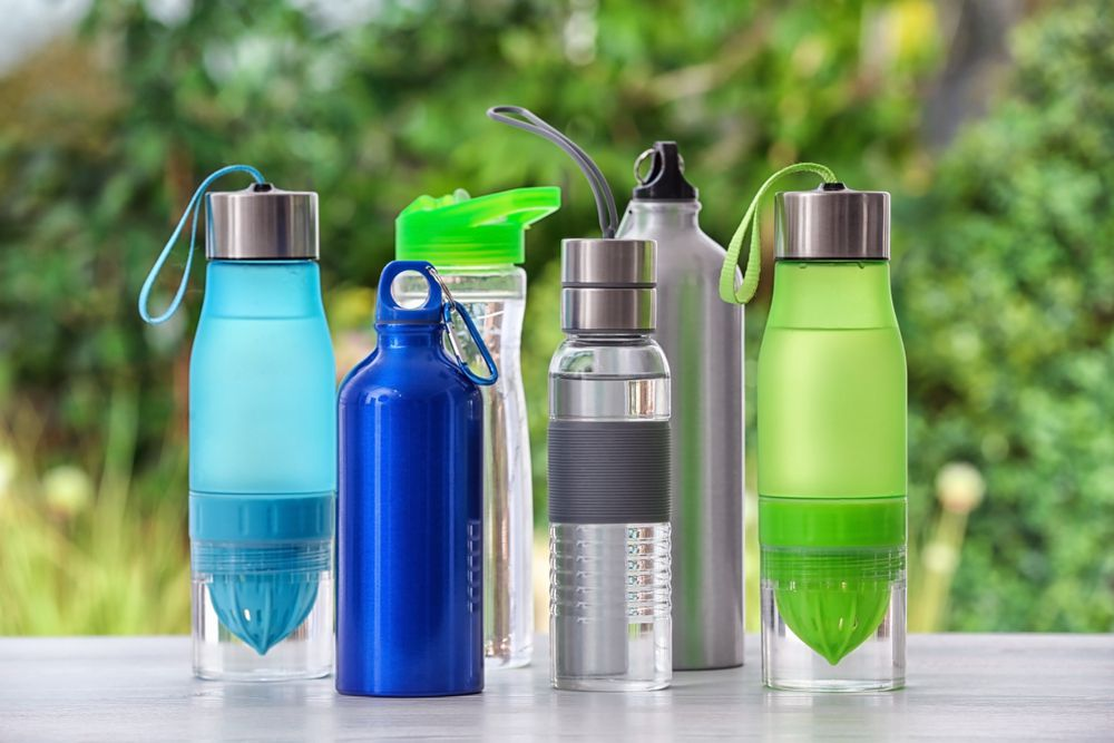 selection of reusable water bottles