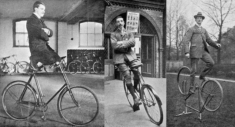 Trucos en bicicleta de hace 100 años (¡Ahora ESO es de la vieja escuela!)