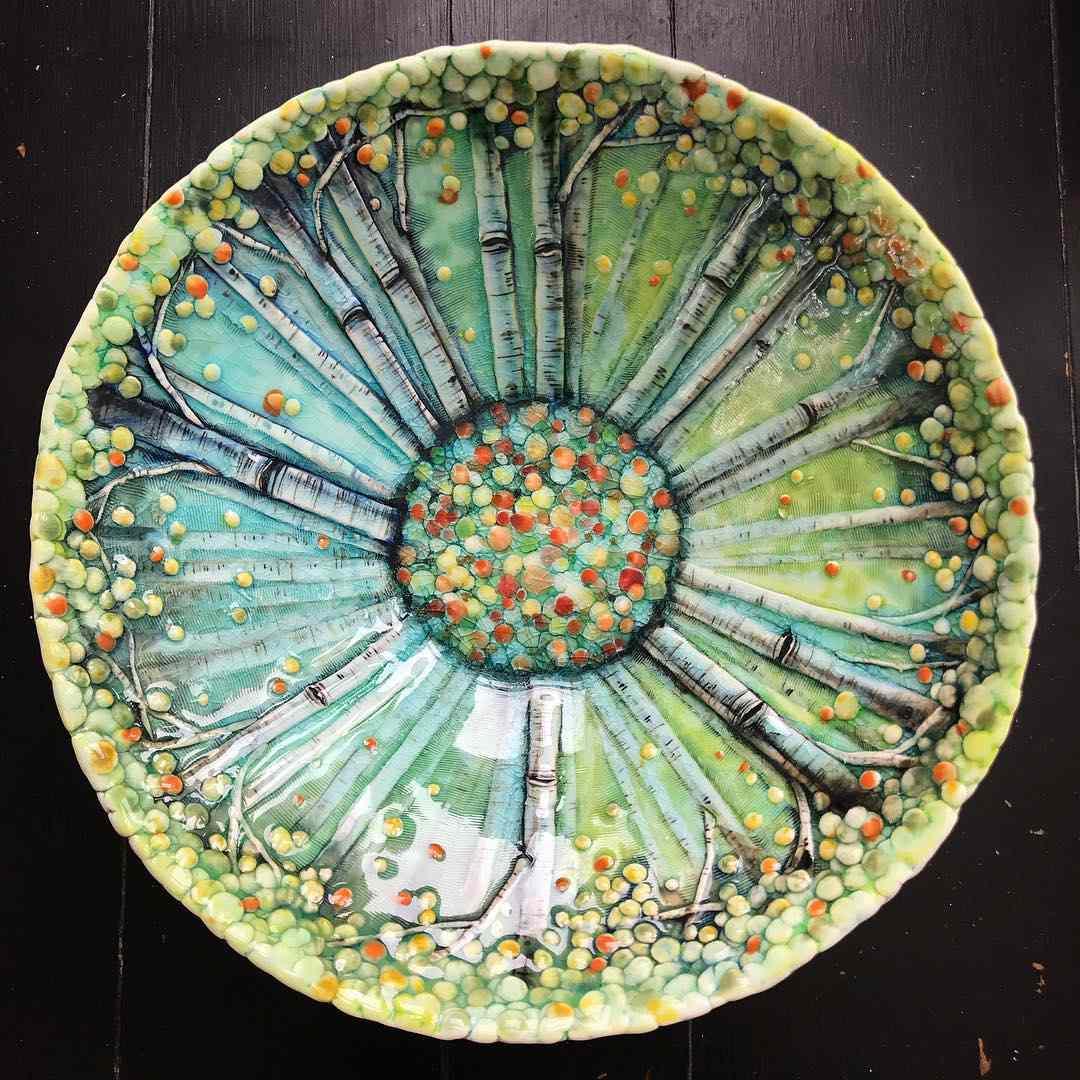 Three Dimensional Ceramic Artworks Offer Vignettes Of Nature