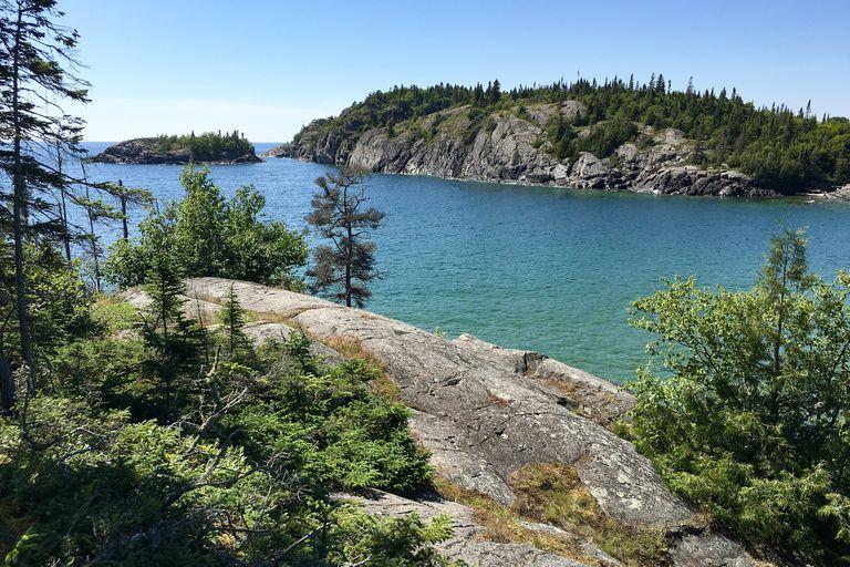 Rocky Coastline, Southern Headland Trail, Horseshoe Bay, Pukaskwa National Park, Ontario