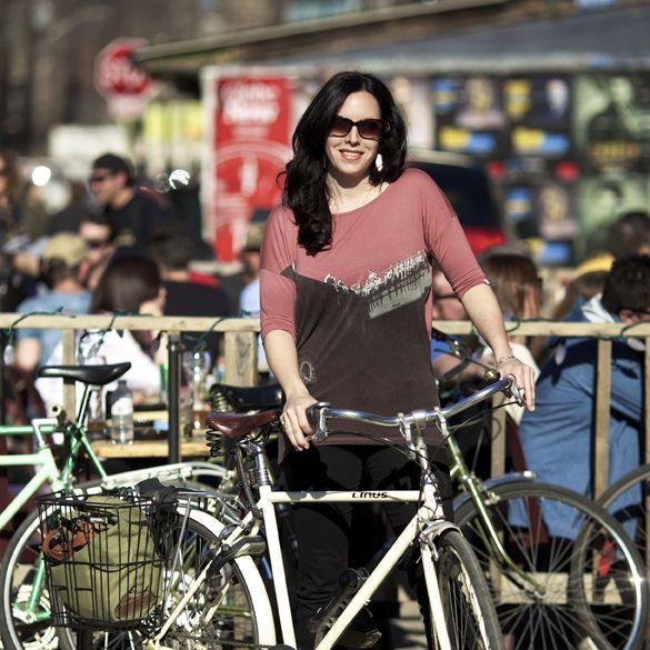 Yvonne on bike