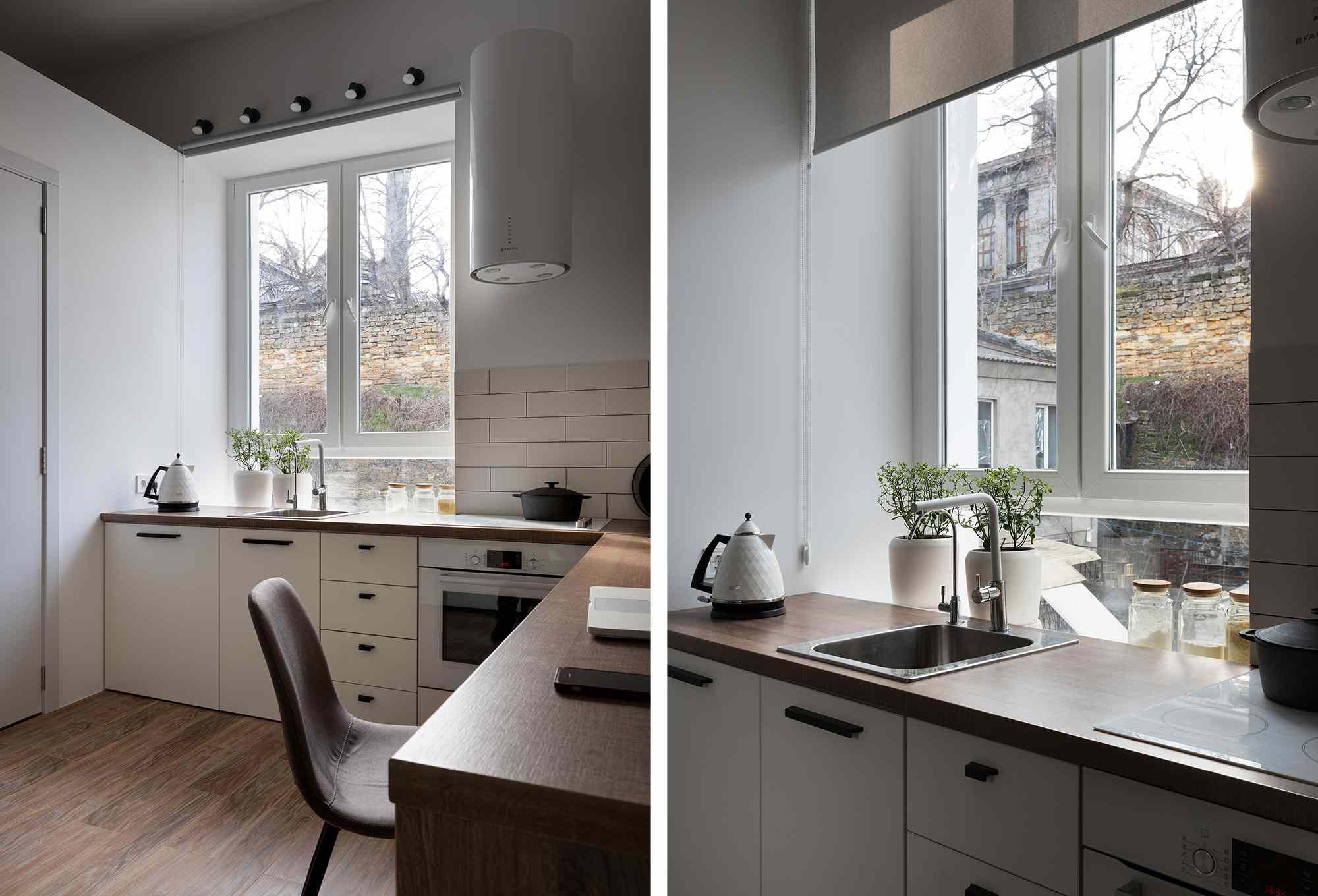 Odessa micro-apartment renovation Fateeva Design kitchen