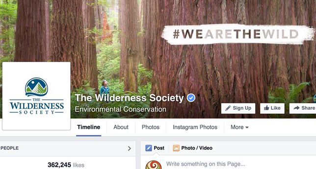 The Wilderness Society on Facebook