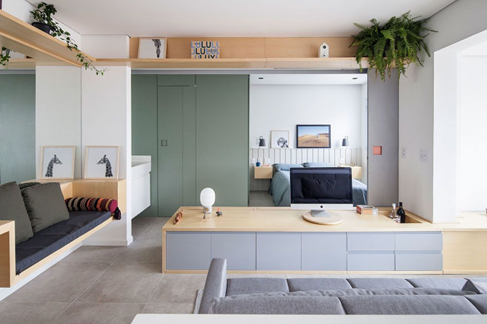 Not-So-Big 409 Sq. Ft. Apartment Renovation 'Densifies' Functions