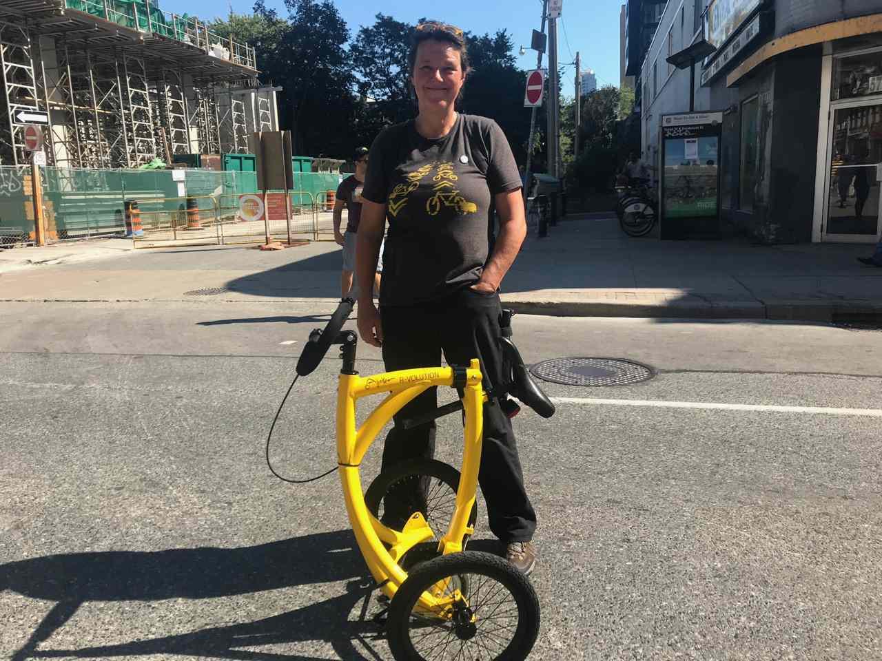 Alinker walking bike folded up
