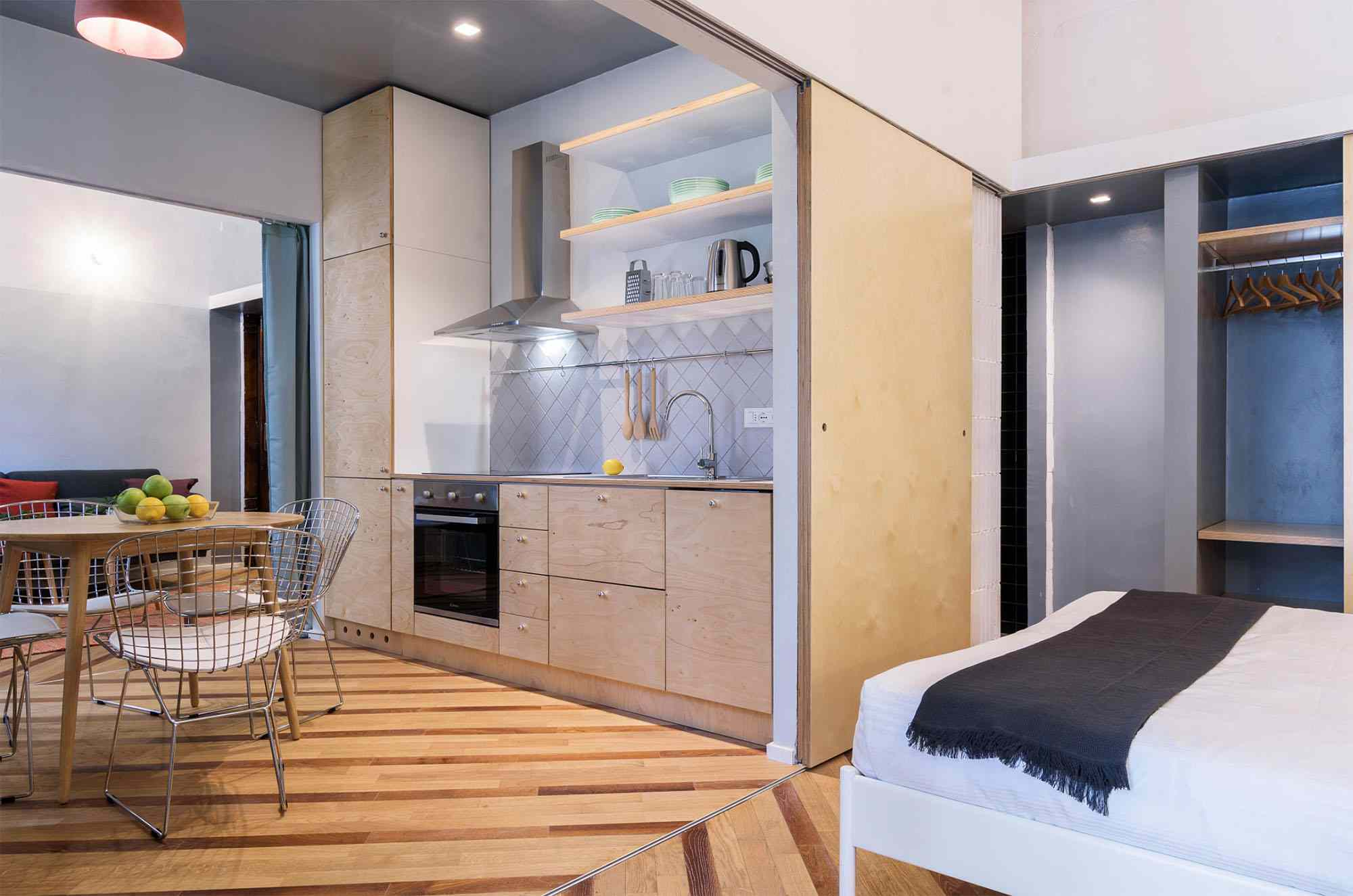 House In Constant Transition small apartment renovation ATOMAA kitchen and bedroom