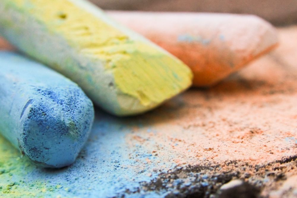 Close up of sidewalk chalk