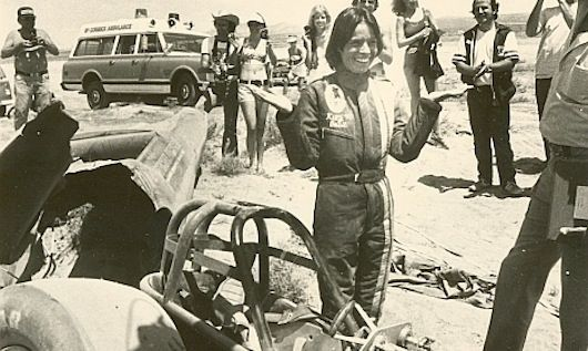 Professional stuntwoman Kitty O'Neil