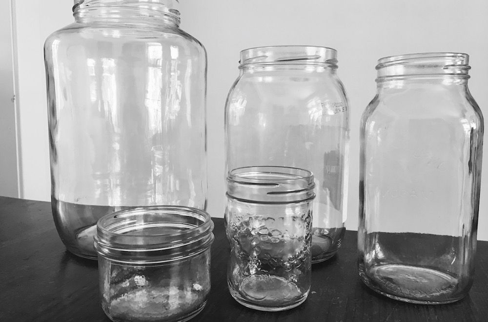 glass jar collection