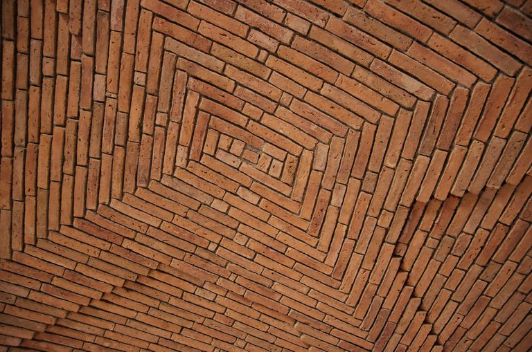 Vaulted brick timbrel ceiling.