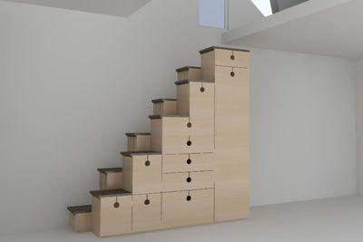 Alternating stair design sample