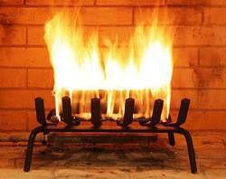 burning Duraflame logs