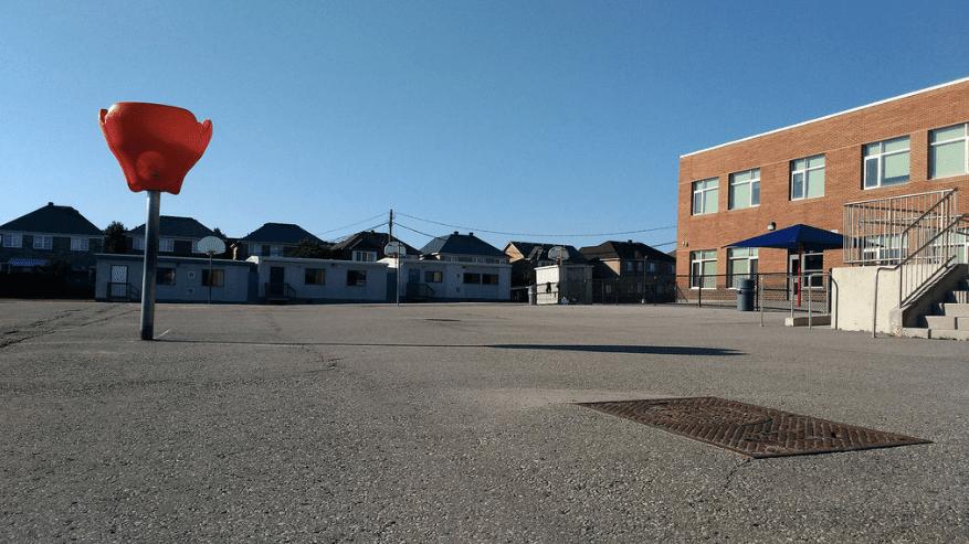 Barren Canadian schoolyard