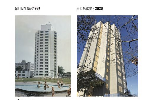 Before and during tower renewal