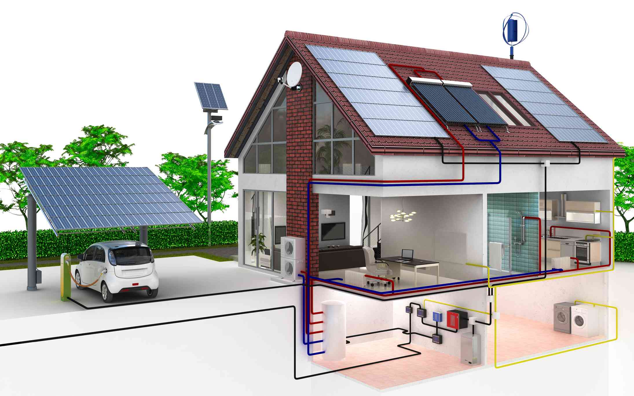 Solar-Plus-Storage fueling an electric vehicle.