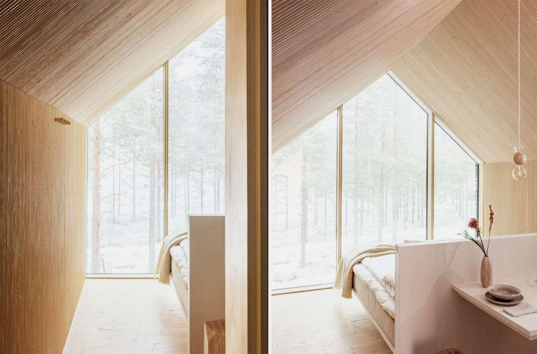 Niliaitta cabin by Studio Puisto bedroom