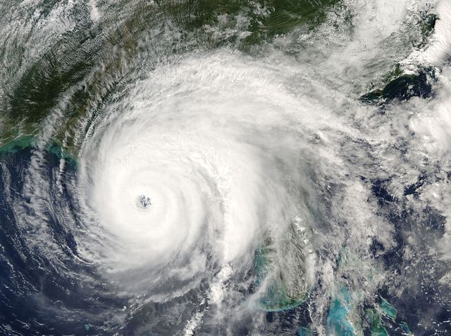 A satellite view of Hurricane Ivan on Sept. 15, 2004