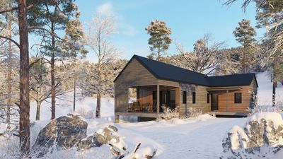 A prefab in the woods
