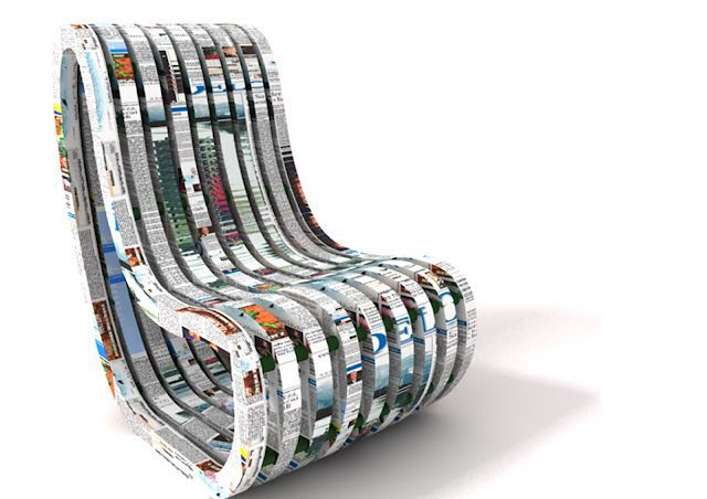 paperchair recycled newspaper Peter Plantan Nusa Zupanc