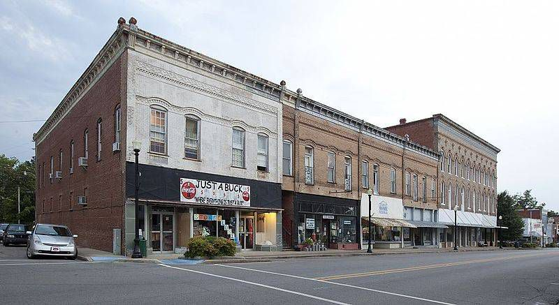 Main Street, downtown Greensboro, Alabama.