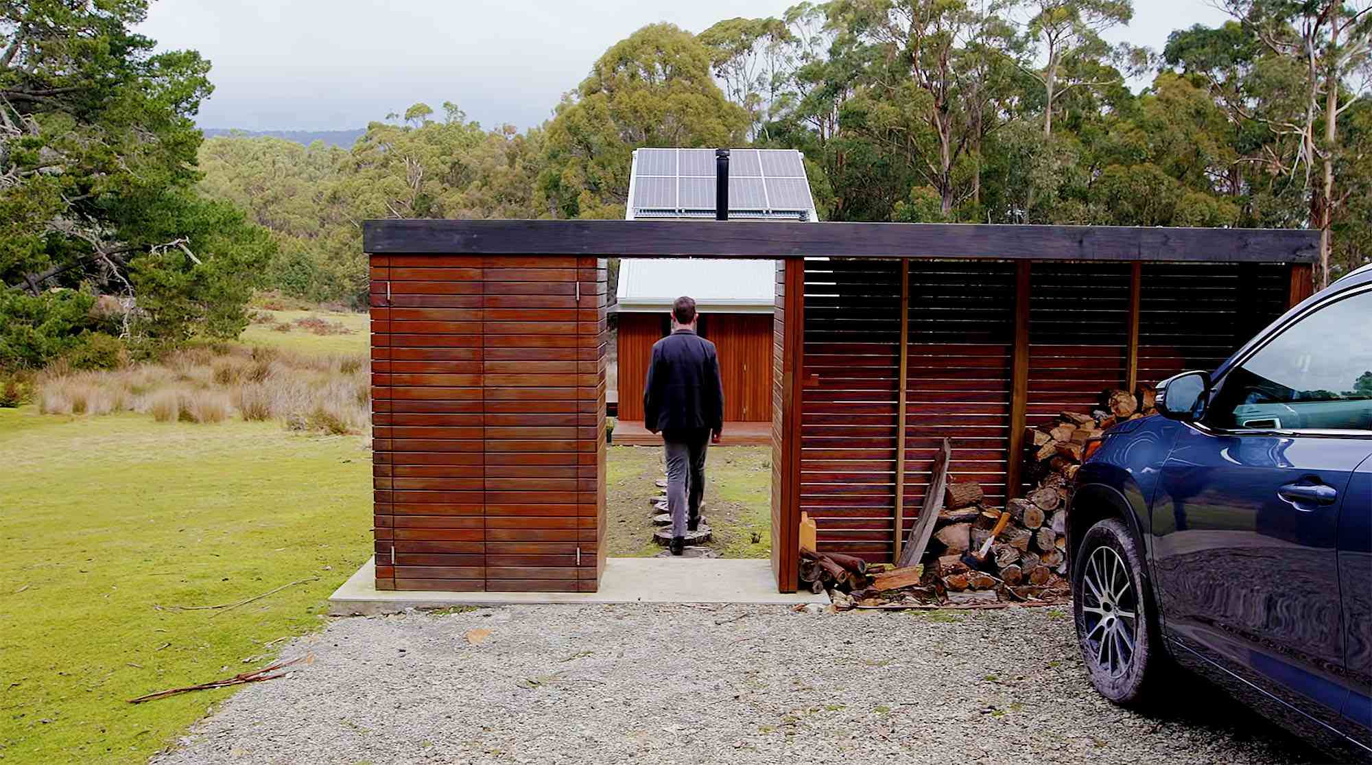 Bruny Island Hideaway by Maguire + Devin pergola